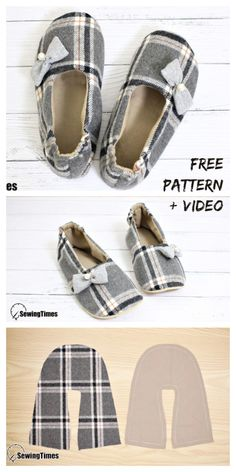 icu ~ Pin on My Pins ~ DIY Fabric House Slippers Free Sewing Patterns + Video Sewing Patterns Free, Free Sewing, Fabric Patterns, Sewing Tutorials, Pattern Sewing, Sewing Projects, Sewing Slippers, Kids Slippers, Sewing Clothes