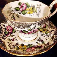 Vintage Royal Albert Lovelace Tea Cup & Saucer by GraciousVintage
