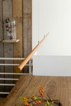 Wooden Pendant - Linear - Ferrolight: less is more