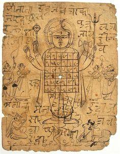 """ Yantra of Shrinathji, drawing from Nathdwara, Rajasthan. Via Art Found Out "" Shiva Art, Hindu Art, Indian Gods, Indian Art, Mantra Tattoo, Ketu Mantra, Hanuman Ji Wallpapers, Tantra Art, Easy Love Spells"