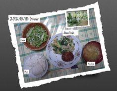 For Dinner on 18/Oct/2012