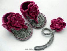 Crochet Baby Booties Baby Crochet Sandals...