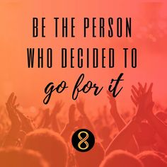 Motivation Monday: Be the person who decided to go for it. #motiv8tionmonday #innov8tivenutrition