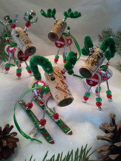WINE CHRISTMAS ORNAMENT - Winedeer-Very Merry Moose-Bighorn Sheep -Chardonnay