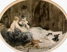 Icart, Louis (b,1888)- Spilled Milk