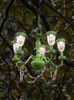 Etonnant Celebrate Springs Arrival By Creating Your Own Solar Powered Chandelier.  This Unique Light Fixture Is A Charming Addition To Any Outdoor Space.