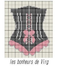point de croix - cross stitch corset Cross Stitch Needles, Beaded Cross Stitch, Cross Stitch Embroidery, Embroidery Patterns, Cross Stitch Patterns, Stitches Wow, Tapestry Crochet, Loom Patterns, Plastic Canvas Patterns