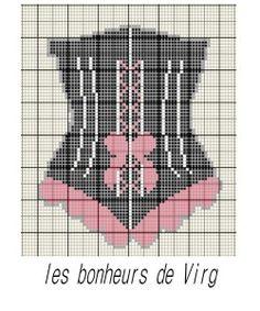 corsets au point de croix pinterest - Pesquisa do Google