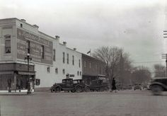 1931 photo of the northeast corner of Main and Spring, where the Malone-Forbach dry good store was then located. Note the truck advertising Pete's Candy Shop on the driver's door Old Pictures, Old Photos, Boonville Missouri, Historical Images, Dry Goods, Candy Shop, Maine, Street View, Park