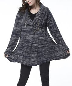 Loving this Navy Wool-Blend Belted Cardigan on #zulily! #zulilyfinds