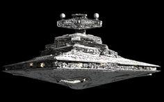 An Imperial-class Star Destroyer. Why do the bad guys always get the coolest stuff? Star Destroyer, Star Wars Ships, Star Wars Art, Star Trek, Lucas Movie, Nave Star Wars, Star Wars Spaceships, War Novels, 3d Star