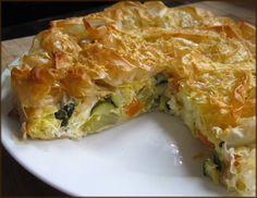Vegetable Phyllo Tart