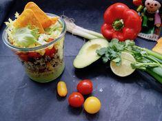 Salade mexiciane en pot, salsa à l'avocat