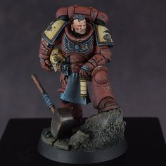 GW Store Anniversary Model Painted for my Blood Ravens! Album in the comments Warhammer Paint, Warhammer Models, Warhammer 40000, Dark Vengeance, Warhammer 40k Blood Angels, Marine Colors, Model One, Space Wolves, Warhammer 40k Miniatures