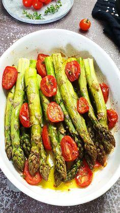 Asparagus Recipe Stove, Grilled Asparagus Recipes, Wine Recipes, Cooking Recipes, Healthy Recipes, Healthy Food, Roasted Vegetables, Veggies, Parmesan