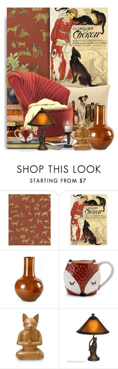 """""""Animals in the Library ~ Originality is the Golden Rule - Contest"""" by tiffanysblues ❤ liked on Polyvore featuring interior, interiors, interior design, home, home decor, interior decorating, Clinique, Tozai, Sur La Table and NOVICA"""