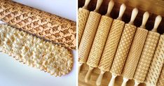 Custom Engraved Rolling Pins Imprint Patterns into Cookie Dough  http://www.thisiscolossal.com/2014/06/custom-engraved-rolling-pins/