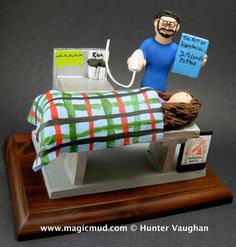 Anaesthetist's Gift Figurine www.magicmud.com 1 800 231 9814 magicmud@magicmud.com $225 Personalized #Medical Gift Figurines, custom created just for you! Perfect present for all #Doctors, a heartfelt gift for birthdays, graduations, anniversaries, new office openings, retirement, as a thank you to a great #physician Surgeon, cardiologist, therapist, nurse, ob-gyno, podiatrist, psychiatrist, nephrologist, urologist, radiologist, any occupation made to to order by #magicmud Christmas Gift For Dad, Personalized Christmas Gifts, Magic Mud, Female Surgeon, Custom Made Gift, Gifts For Dentist, Doctor Gifts, Clay Figurine, Graduation Gifts