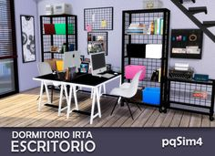 Irta bedroom set 2 desk by mary jiménez at image 6010 sims 4 update Sims 4 Game Mods, Sims Mods, Sims 4 Cc Skin, Sims Cc, Muebles Sims 4 Cc, The Sims 4 Pc, Sims 4 Cc Kids Clothing, Sims 4 Dresses, Sims 4 Cc Furniture