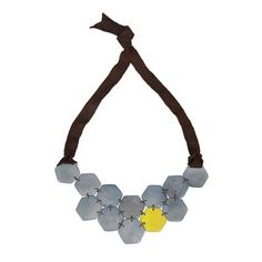 Honeycomb Necklace Periwinkle now featured on Fab.