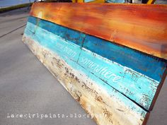 Lake Girl Paints: Sunset Beach Art from Fence Boards
