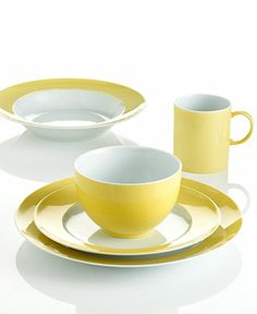 THOMAS by Rosenthal Dinnerware Sunny Day Mix and Match Collection - Casual Dinnerware - Dining \u0026 Entertaining - Macy\u0027s   Interior   Pinterest   Dinnerware ...  sc 1 st  Pinterest & THOMAS by Rosenthal Dinnerware Sunny Day Mix and Match Collection ...