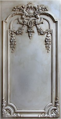 Carved wood wall panel. French.