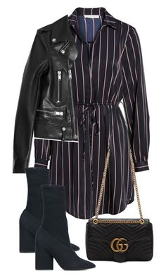 """""""Untitled #4661"""" by theeuropeancloset ❤ liked on Polyvore featuring Yves Saint Laurent, Yeezy by Kanye West and Gucci"""