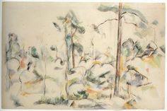 Cézanne -  Rocks and Trees