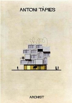 ARCHIST: Illustrations of Famous Art Reimagined as Architecture,Courtesy of Federico Babina