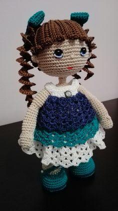 Bambola amigurumi fatta da me #doll #muneca #amigurumi #bambola amigurumi #colore #handmade #crochet