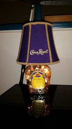 Made shade with Crown bags #BottleLamp