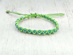 Your place to buy and sell all things handmade Square Knot Bracelets, Macrame Bracelets, Bohemian Style Jewelry, Macrame Jewelry, Bead Weaving, Friendship Bracelets, Fashion Jewelry, Teen, Beads