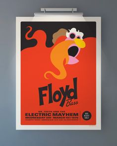 "Muppets Electric Mayhem  ""Floyd""  Limited Edition Screen Prints  Artwork by Michael DePappo"