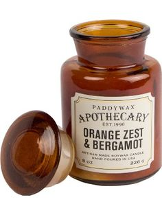 Paddywax Candles Apothecary Collection Jar Candle, 8-Ounce, Tobacco and Patchouli ❤ Paddywax