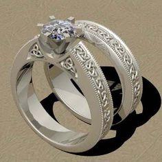 Celtic Wedding Ring Sets 2 Irish Rings For