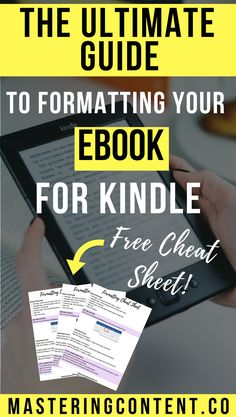 Ever tried to upload your newly written eBook to kindle, only to have the  text and images go all wonky? It's incredibly frustrating! Formatting your book for Kindle can seem overwhelming. But the truth is, you don't need to be a tech wiz!  Follow the simple steps in this post to format your eBook like a pro.