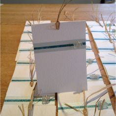 Wedding invitations with sea glass