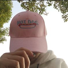 Hot Dog Pink Baseball Cap - Baseball Cap