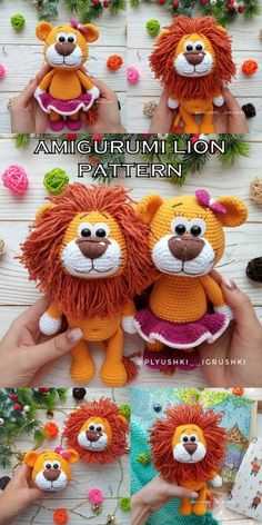 Most up-to-date Cost-Free crochet amigurumi lion Ideas Amigurumi Lion Crochet Free Patterns – Amigurumi Crochet Animal Amigurumi, Crochet Animal Patterns, Crochet Doll Pattern, Stuffed Animal Patterns, Amigurumi Patterns, Crochet Animals, Crochet Dolls, Crochet Eyes, Crochet Lion