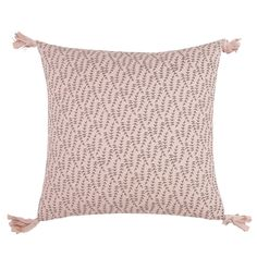 GESSETTE Pink Cotton Cushion Cover | Maisons du Monde