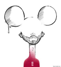 Day 1 - Yourself - JP - 2013 #mickey #mouse #yourself #illustration #clown