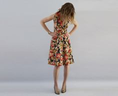 The Imogen: Vintage 1960s Floral Print Day Dress from TheSymmetric on Etsy.