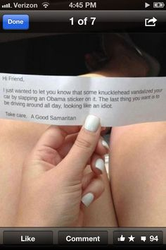 Best note ever left on a car windshield. A public service really. Conservative Cartoons, Conservative Quotes, Conservative Values, Parking Notes, Republican Quotes, Sarcastic Humor, Sarcasm, Laughter The Best Medicine, Good Notes