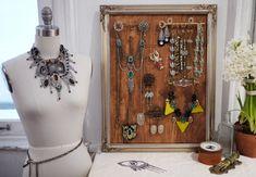 Держатель для украшений от Lulu Frost (DIY) / Организованное хранение / Модный сайт о стильной переделке одежды и интерьера