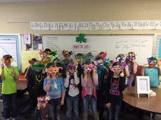Mardi Gras mask! What a fun day!