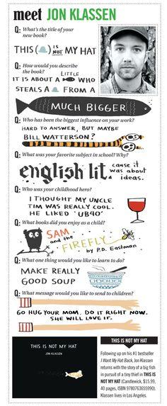 Jon Klassen, a talented and humorous storyteller artist Jon Klassen, Library Inspiration, Library Ideas, Book Trailers, Author Studies, Library Lessons, Children's Literature, Children's Book Illustration, Book Authors