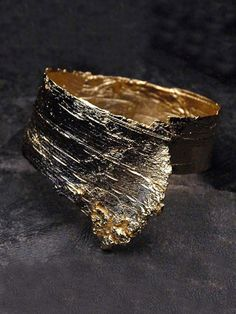 Obsessed with this Gold Bark Cuff