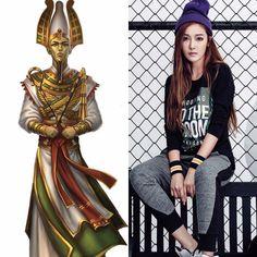 EgyptianZodiac&KPOP // Osiris // Jessica Jung of SNSD \ girls generation