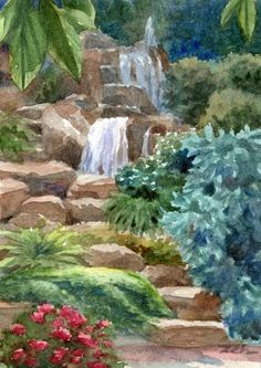 Waterfall Garden by Janet Zeh